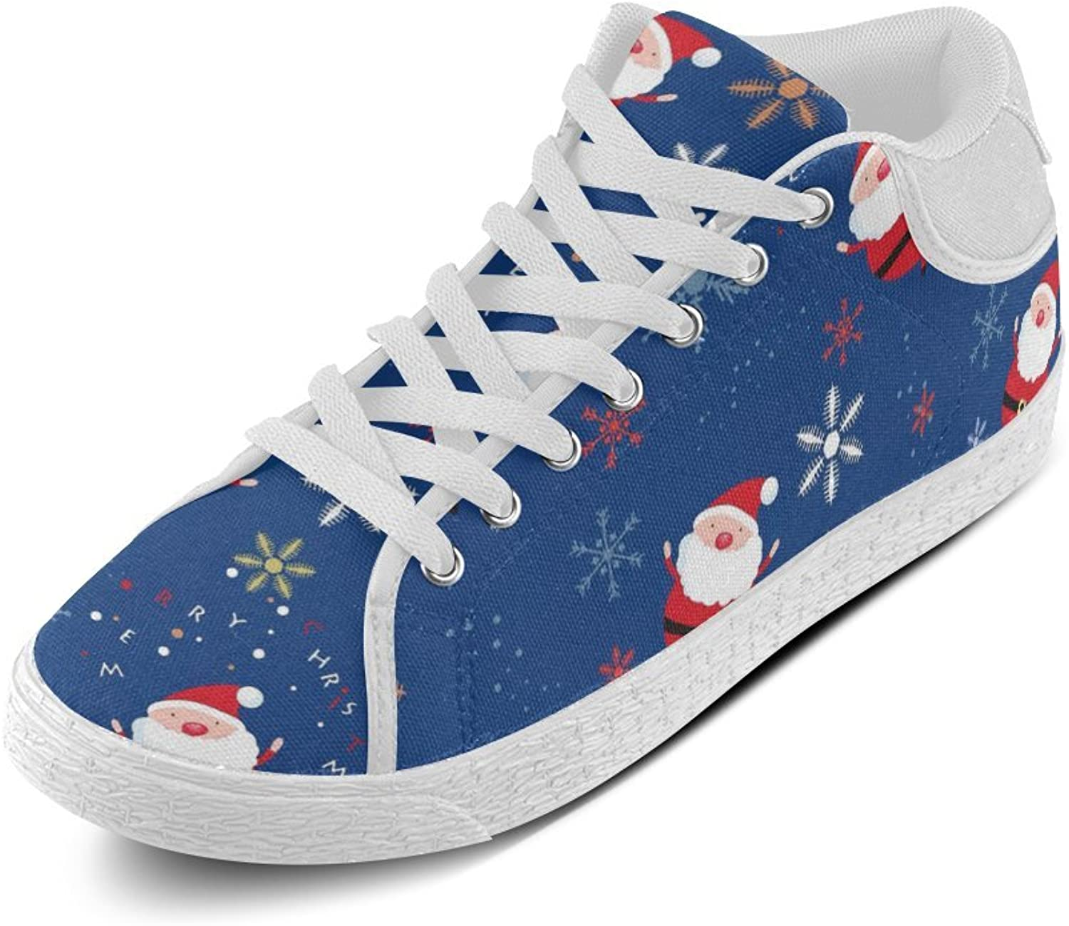 CERLYRUAN Christmas Santa Claus Canvas Chukka Canvas Women's shoes