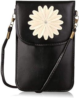 حقيبة كتف ومحفظة كروسبودي صغيرة للنساء والفتيات مع نافذة عرض تعمل باللمس