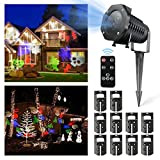 Christmas Lights, DRILLPRO Garden Projector Lights - 10PCS LED Landscape Outdoor and Indoor for Party, Bedroom, Wedding, and Christmas Halloween Decor