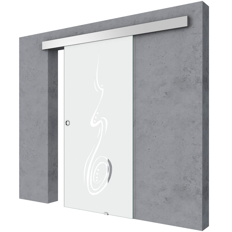 Partición corredera de cristal interior de la puerta Interior dormitorio baño cocina oficina: Amazon.es: Bricolaje y herramientas