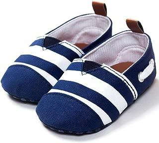 Ecosin Baby Blue Stripe Sneaker Anti-slip Soft Sole Toddler Prewalker (12-18months)