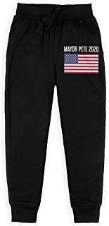 Dxqfb Mayor Pete 2020 American Flag Boys Sweatpants,Sweatpants For Boys