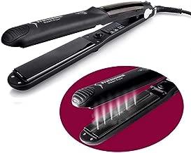 Plancha de vapor Plancha de pelo, Argan Oil Salon Tourmaline Ceramic Professional Hair Styler con cuidado de aniones e interruptor de bloqueo