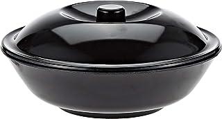 "Servewell Melamine Serving Bowl 8.5"" With LID (21x21CM R_0112, Black, W 18.6 x H 15.4 x D 9.0 cm"