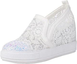 FANIMILA Women Fashion Platform Sneaker Slip On
