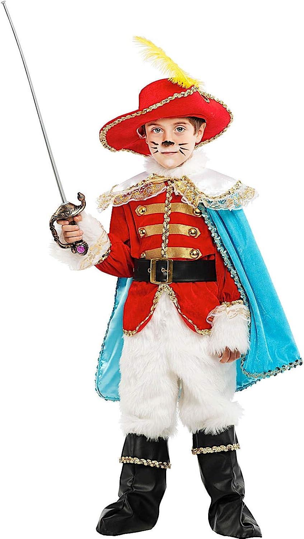 servicio considerado Disfraz EL EL EL Gato con botas Lujo Vestido Fiesta de Cochenaval Fancy Dress Disfraces Halloween CosJugar Veneziano Party 53223  el más barato