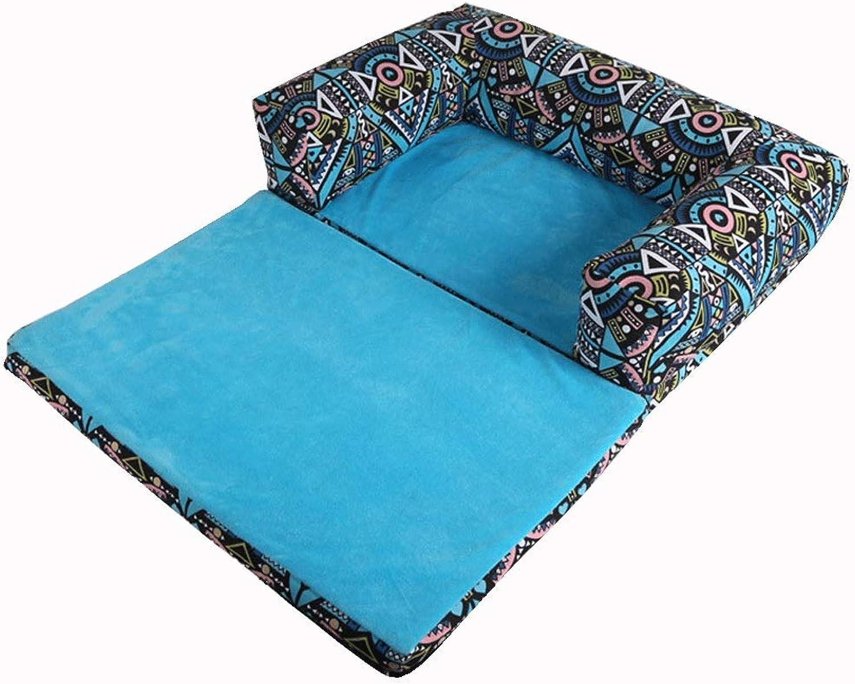 Pet Dog Cat Bed Sofa, Soft e Comfortable Moisureprova impermeabile * Foldable and Detacable (Colore: MultiColored, Dimensione: 60CM)