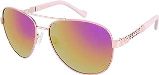 Jessica Simpson Women's J5359 RGDRS Non-Polarized Iridium Aviator Sunglasses
