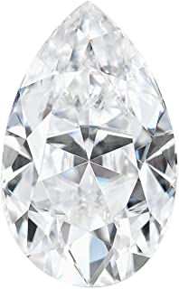 Charles&Colvard Forever One Colorless Loose Created Faceted Pear-cut Moissanite