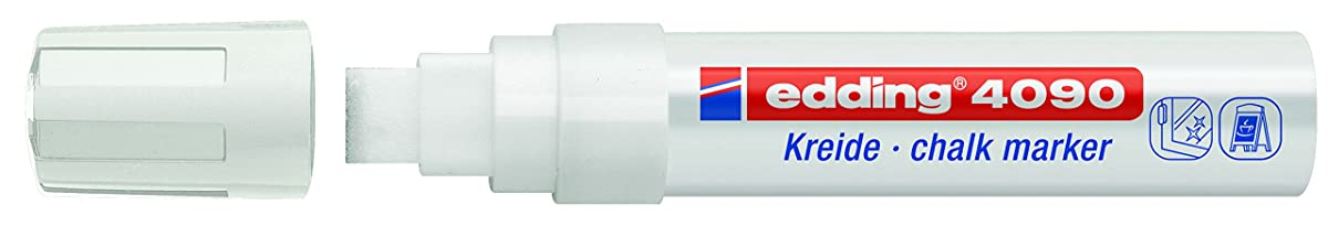 edding 4090 Chalk Marker - White (Box of 5)