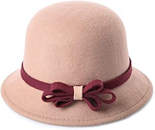 Lei Zhang Autumn and Winter Woolen Korean Version of The Tide New Three Small Jane Fashion About Female hat Speed (Color : Khaki, Size : M56-58cm)