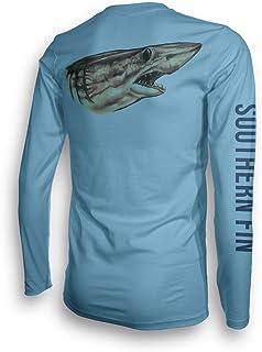 تي شيرت صيد بأكمام طويلة للرجال والنساء، ملابس ذات أداء رياضي بتقنية الأشعة فوق البنفسجية 50 - ملابس Southern Fin