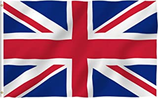ANLEY® [Fly Breeze] 3x5 Foot United Kingdom UK Flag - Vivid Color and UV Fade Resistant - Canvas Header and Double Stitche...