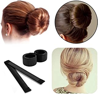 Hair Snap Maker, Magic Hair Styling Disk Donut Bun Former, Foam French Twist Hairstyle Clip Fashion DIY Doughnuts Hair Bun...