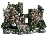 SLOCME Decoración de castillo de resina para acuario, adorno de castillo de pecera, detalles realistas accesorios de acuario