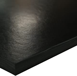 SBR (Styrene Butadiene Rubber) Sheet, 70 Shore A, Black, Smooth Finish, No Backing, 0.25