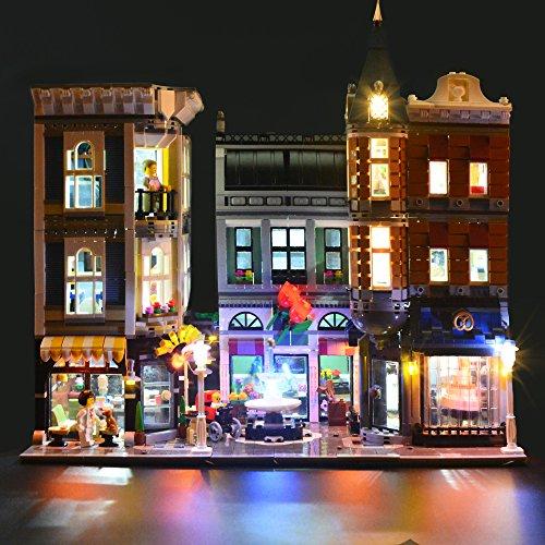 LIGHTAILING Licht-Set Für (Assembly Square Creator Expert) Modell - LED Licht-Set Kompatibel Mit Lego 10255(Modell Nicht Enthalten)