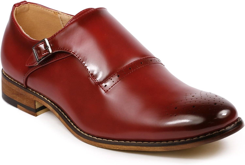 Metrocharm MC112 Men's Monk Strap Slip-On Loafers Dress shoes