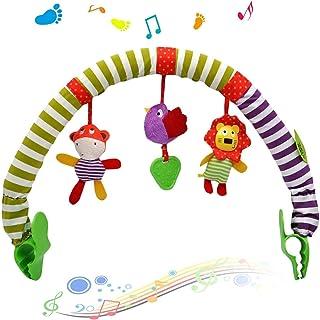DELFINO Baby Cart Hanging Toy Pendant Cartoon Lion Animal Baby Play Arch Stroller Crib Pram Activity Bar Plush Toy Animal-...
