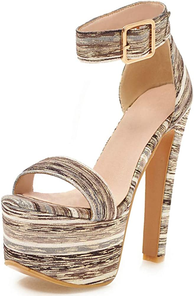 Vimisaoi Women's Platform Block High Raleigh Mall Heele Band Heel One Year-end annual account Strappy