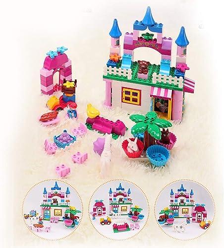 CX TECH Enfants Jouets Briques Jeux Playset Amusant pour Enfants Bébé Grandes Particules Assemblés BatiHommest Classique Blocs 2-6 Ans Cadeaux Garçons Et Filles