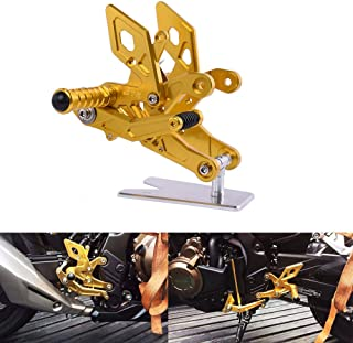 XX eCommerce Motorcycle Motorbike Adjustable Rearsets Foot Peg Rear Steps Footrest Footpeg For 2015-2016 Honda CB500F CBR500R (Gold)
