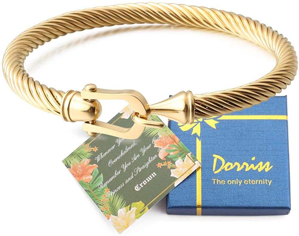Dorriss Cable Wire Bracelets for Women Buckle Bangle Bracelet Best Friend Sister Fashion Jewelry Gift