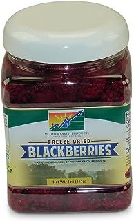 Mother Earth Products Freeze Dried Blackberries, Quart Jar, Net Wt 4oz (113g)