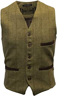 Walker & Hawkes - Men's Tweed Waistcoat Vest Formal Teflon Dress Gilet