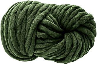 250 g groene garenwol, zachte breiwol, zwervende gebreide deken dik wollen garen, super dik garen voor breien gehaakte tap...