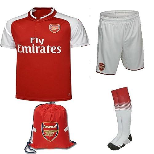 a32d664184e Arsenal 2017 18 Kid Youth REPLICA Jersey Kit (Shirt