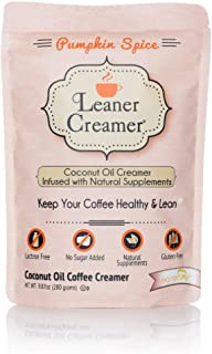 Leaner Creamer, Non-Dairy Coffee Creamer – Sugar Free, Low Calorie, Coconut Oil, Paleo, Keto, Gluten Free, Healthy Weight ...