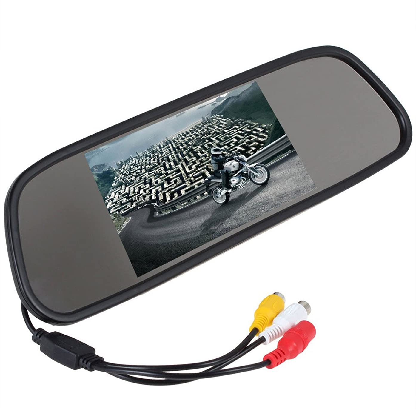 EinCar 5 Inch Color TFT LCD Screen Anti-Glaring Glasses Overhead Monitor PAL NTSC System 2 AV Input Auto Switching Car Monitoring System