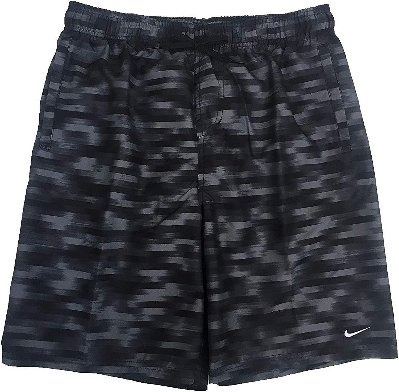 NIKE Men`s 9  Volley Shorts (Black (NESS8529-001) Wolf Grey Black, Large)