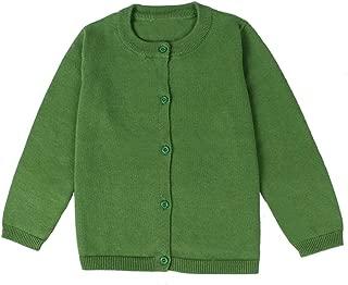 LAVMENG Little Girl Knit Cardigan Sweater - Toddler Button Down School Uniforms Cardigan