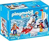 Playmobil-9283 Lucha de Bolas de Nieve, Azul, Naranja, Rojo, Color...