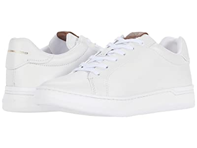 COACH Lowline Low Top (White Glovetanned) Women