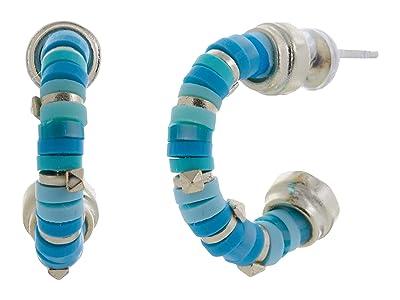 Kendra Scott Reece Huggie Earrings (Gold Sea Green Mix) Earring