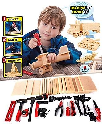 DIY Deluxe Foam Wood Kids Construction Tool Workshop Kit