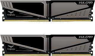 TEAMGROUP T-Force Vulcan DDR4 8GB (2x8GB) 2666MHz (PC4-21300) CL15 Desktop Memory Module ram - Gray
