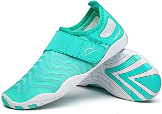 Beach Socks Barefoot Soft Shoes Men's and Women's Snorkeling Shoes Beach Diving Shoes Non-Slip Running Shoes Wading Swimming Shoes (Color : Mint Green, Size : 45-46)