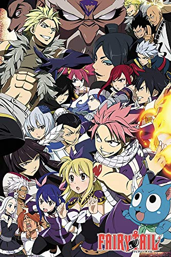 POSTER STOP ONLINE Fairy Tail - Anime TV Show Poster/Print (Fairy Tail vs. Other Guilds - Character Collage) (Size 24' x 36')