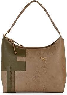 Baggit Spring-Summer 2021 Faux Leather Women's Hobo Handbag (Beige) (L Simily)