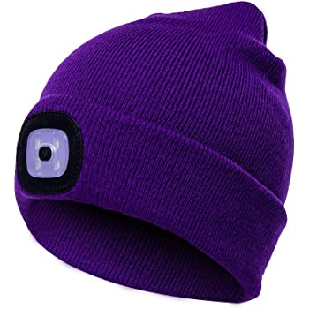 LED Light Beanie Rechargeable Hat Bluetooth Speakers Warm Insulating