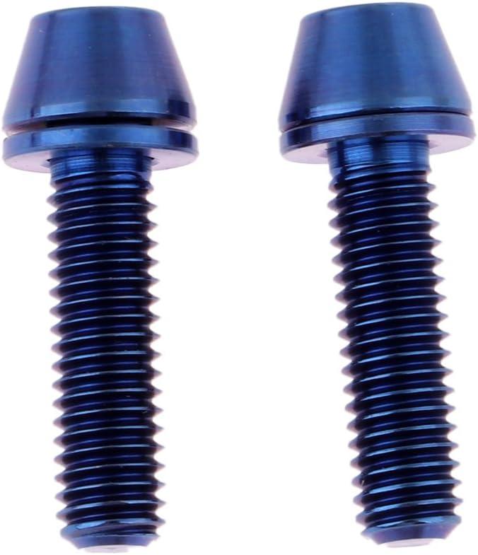 Free shipping menolana 2Pcs Max 73% OFF M5x16 18 20mm Titanium Head Tapered Screw Bike for