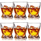 Farielyn-X Whiskey Glasses, Set of 6 Scotch Glasses, Tumblers for Drinking Bourbon, Scotch, Cocktail, Cognac, Irish Whisky, Large 10oz Premium Crystal Glass Tasting Cups for Men & Women