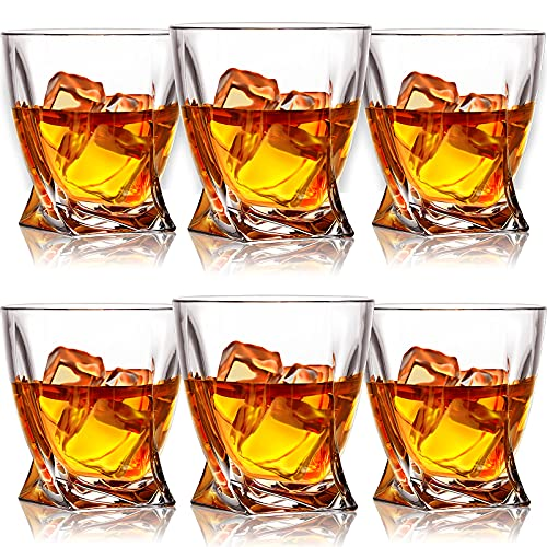 Farielyn-X Whiskey Glasses, Set of 6 Scotch Glasses, Tumblers for Drinking...