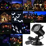 AcTopp Christmas Projector Lights Outdoor Holiday Light Projector with 12+1 Switchable Pattern Lens Led Landscape Spotlight, Valentine's Day Motion Lamp Lights for Garden Home Decoration Birthday