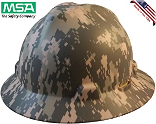 MSA Freedom Series Full Brim Hard Hats with Staz On Suspension and Hard Hat Tote - American ACU Camo