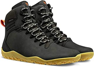 VIVOBAREFOOT Tracker II FG, Mens Leather Waterproof Hiking Boot With Barefoot Firm Ground Sole and Thermal Protection